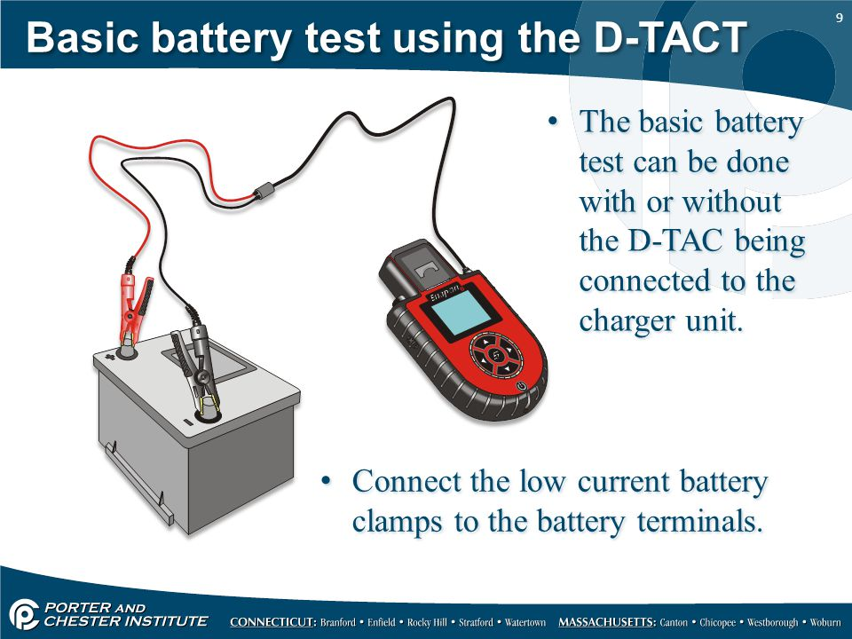 Basic battery test using the D-TACT