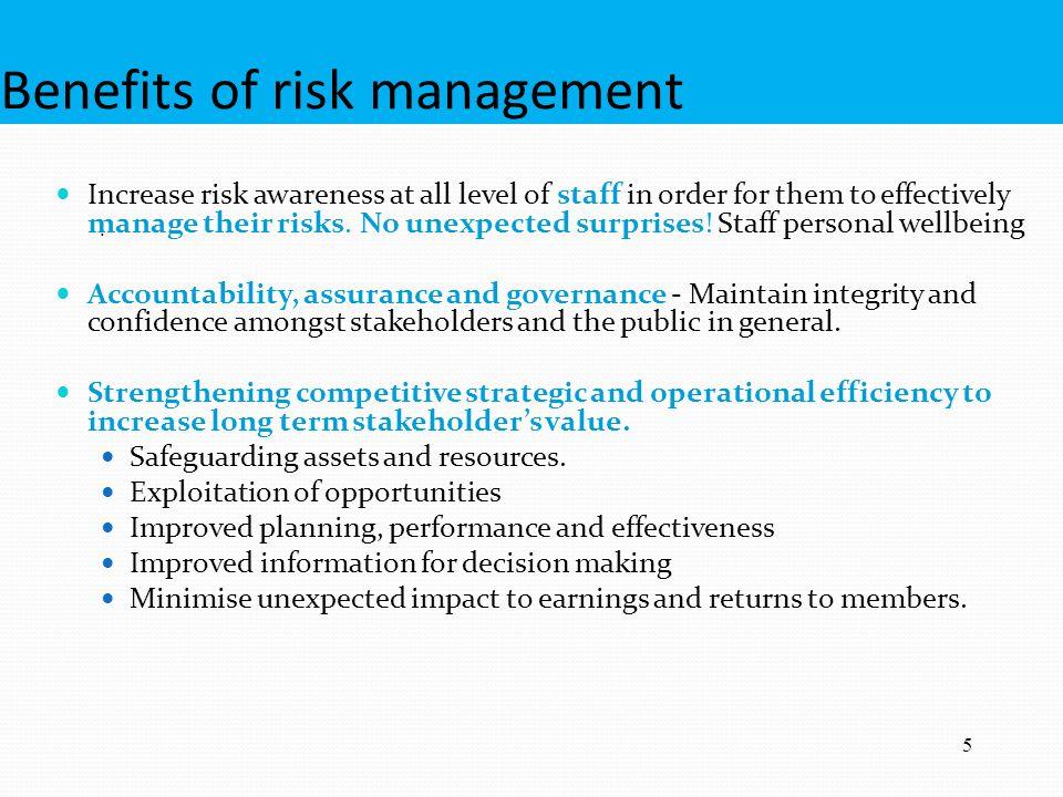 Benefits of risk management