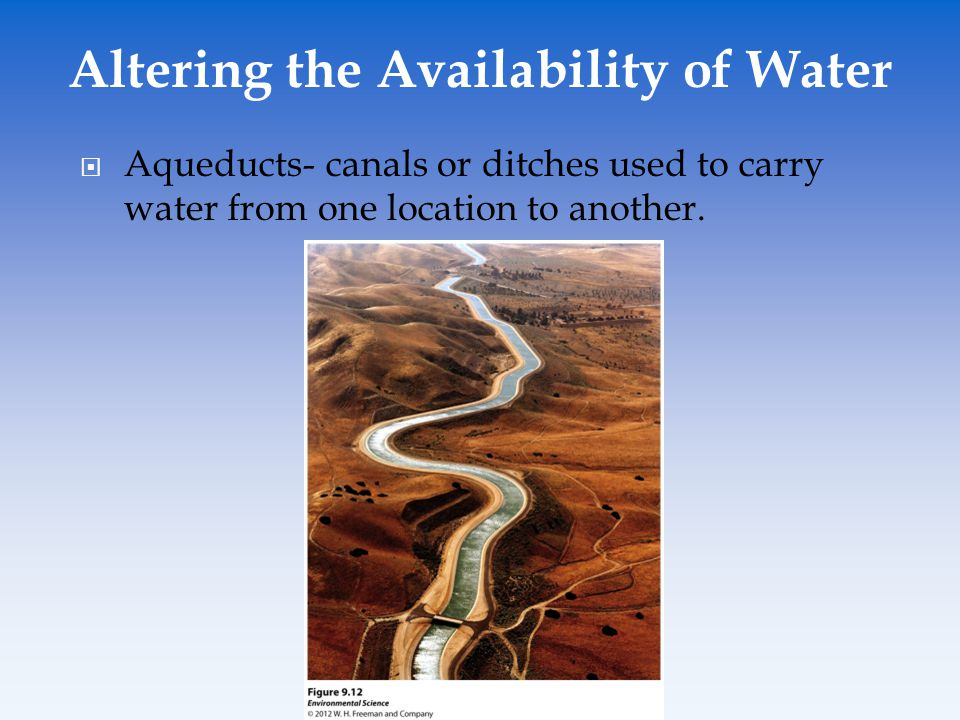 Altering the Availability of Water