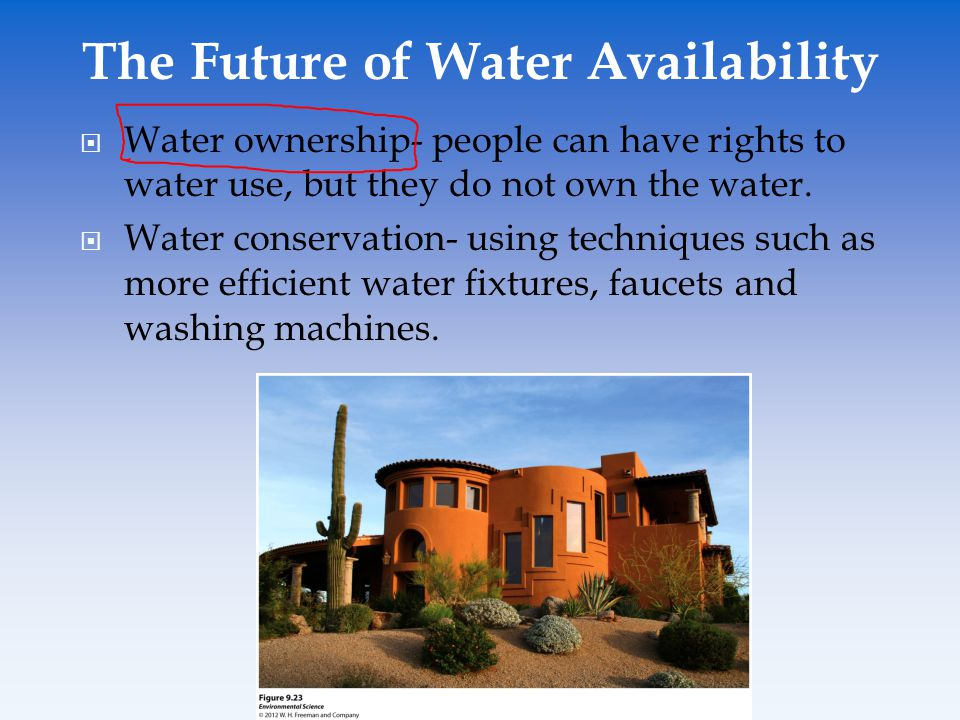 The Future of Water Availability