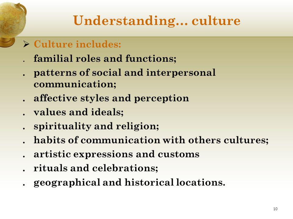 Understanding… culture