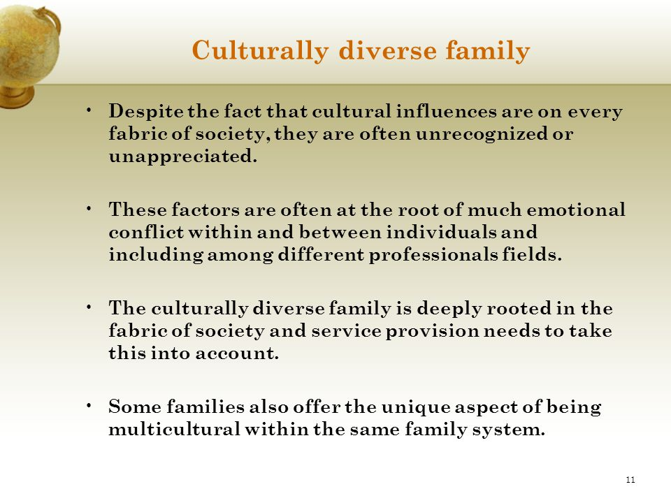 Culturally diverse family