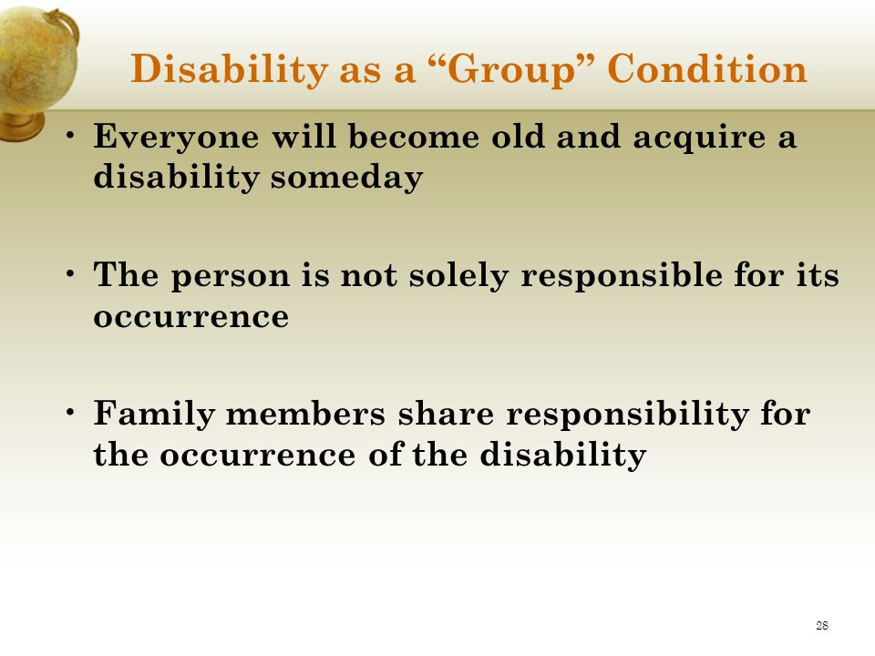 Disability as a Group Condition