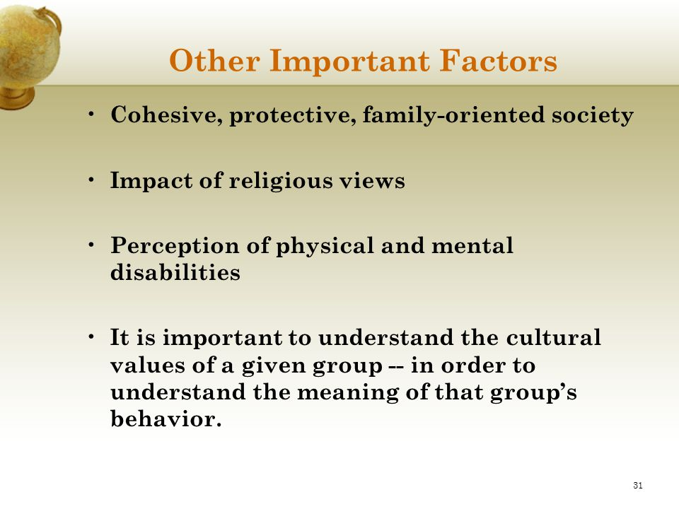 Other Important Factors