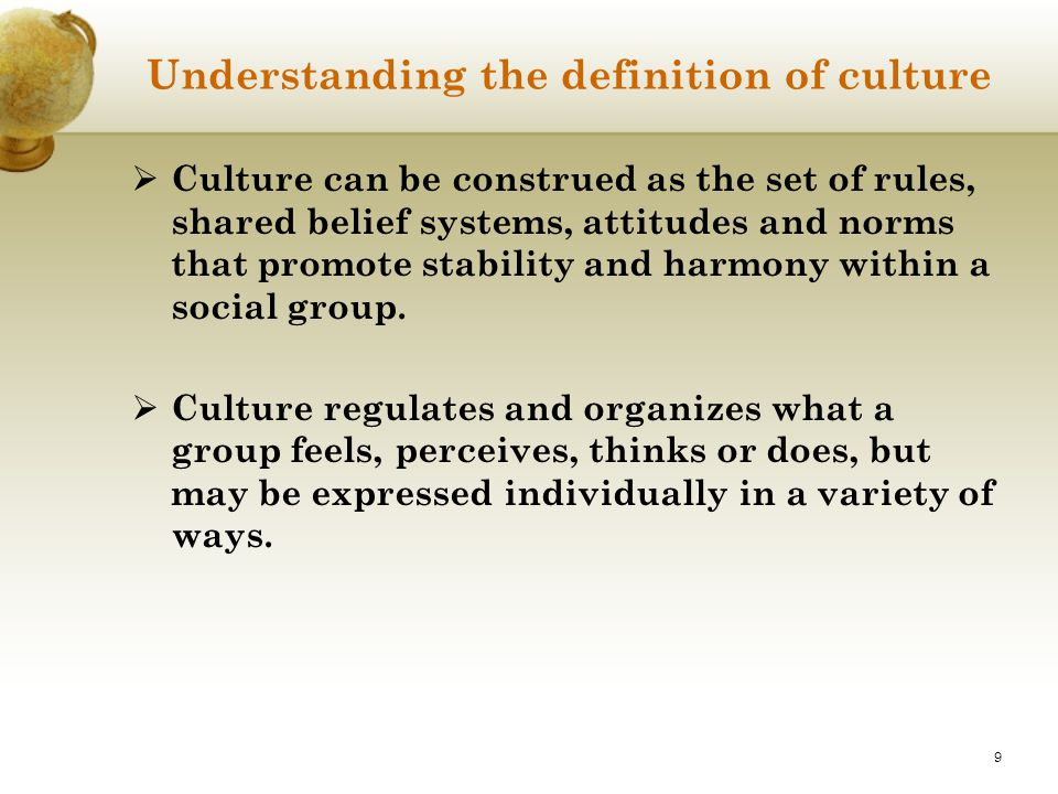 Understanding the definition of culture