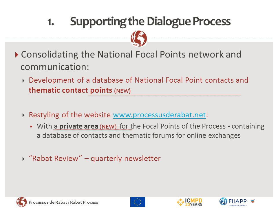 Supporting the Dialogue Process