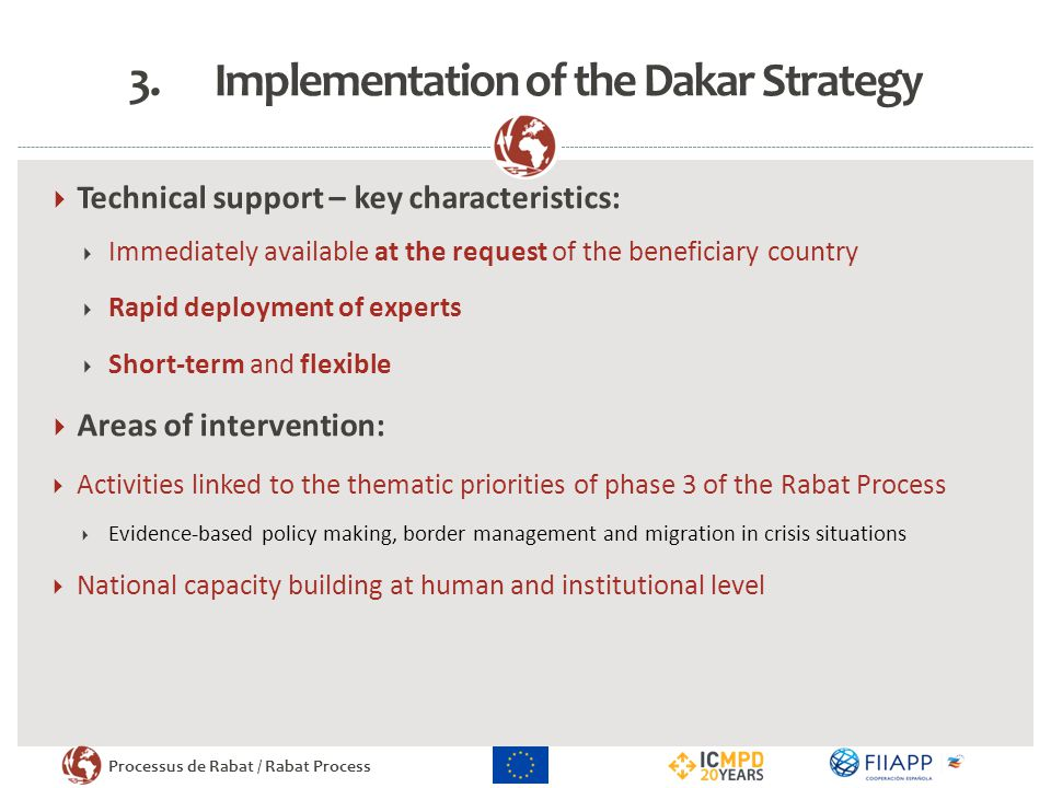 Implementation of the Dakar Strategy