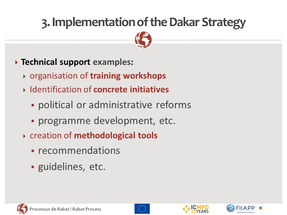 3. Implementation of the Dakar Strategy