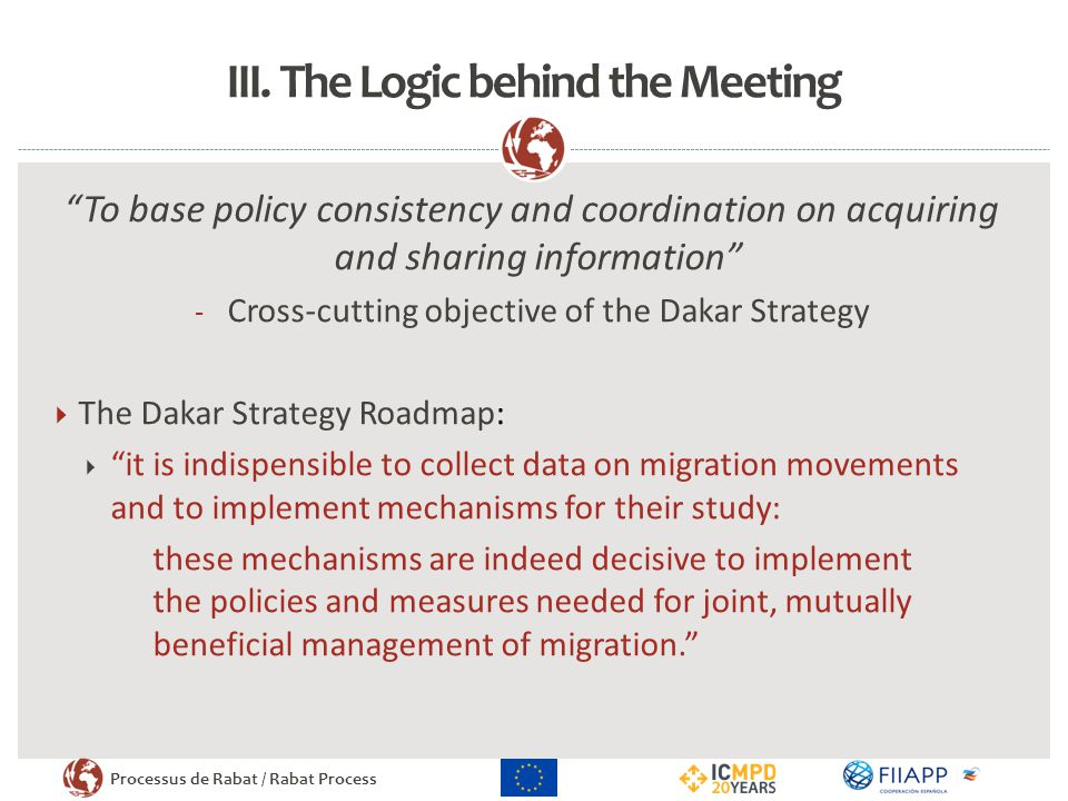 III. The Logic behind the Meeting