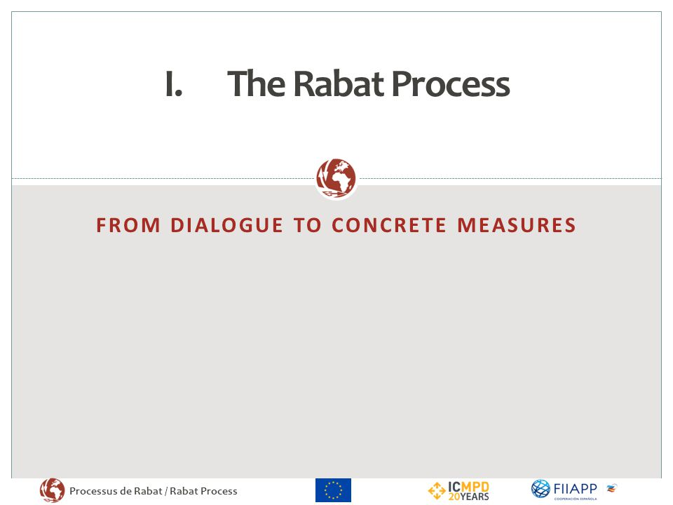 FROM dialogue TO CONCRETE MEASURES