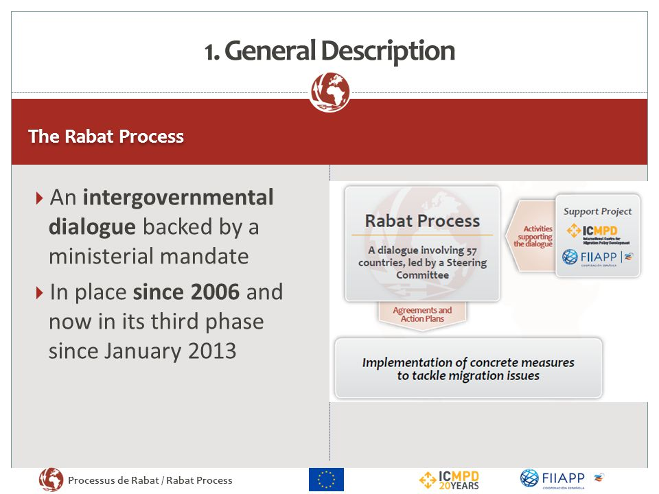 1. General Description The Rabat Process. An intergovernmental dialogue backed by a ministerial mandate.