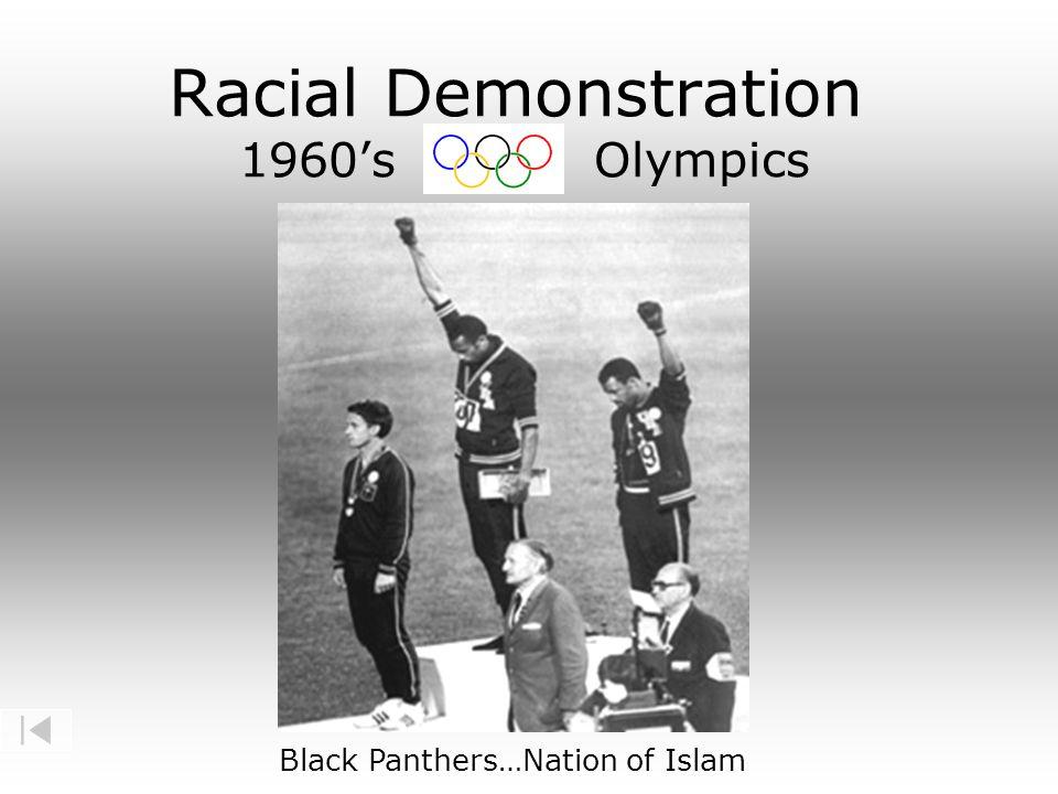 Racial Demonstration 1960's Olympics