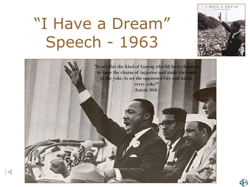 I Have a Dream Speech - 1963