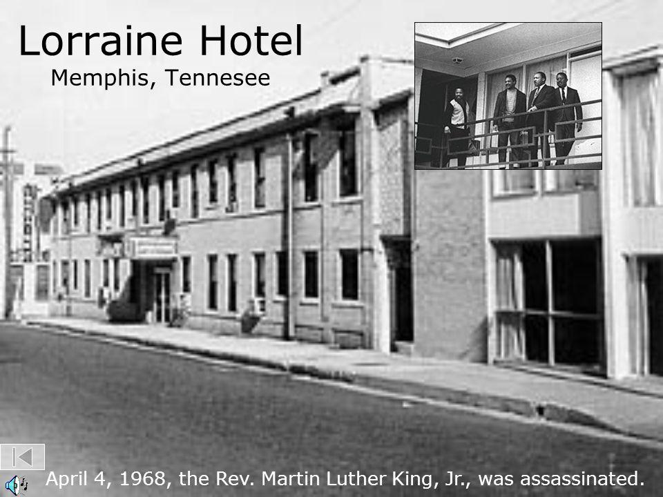 Lorraine Hotel Memphis, Tennesee