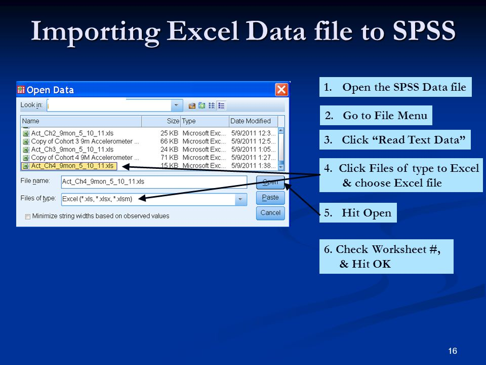 Importing Excel Data file to SPSS