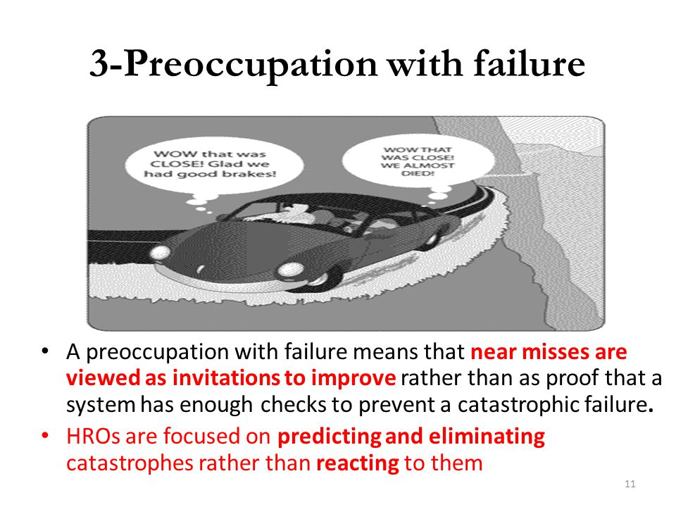 3-Preoccupation with failure