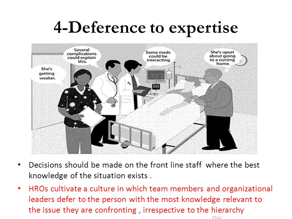 4-Deference to expertise