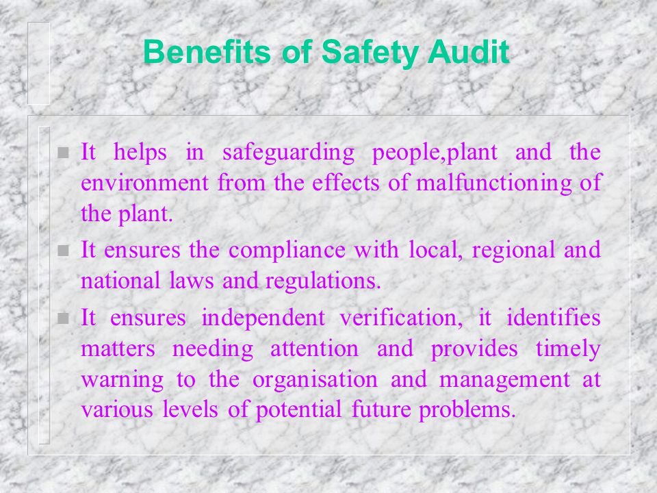 Benefits of Safety Audit