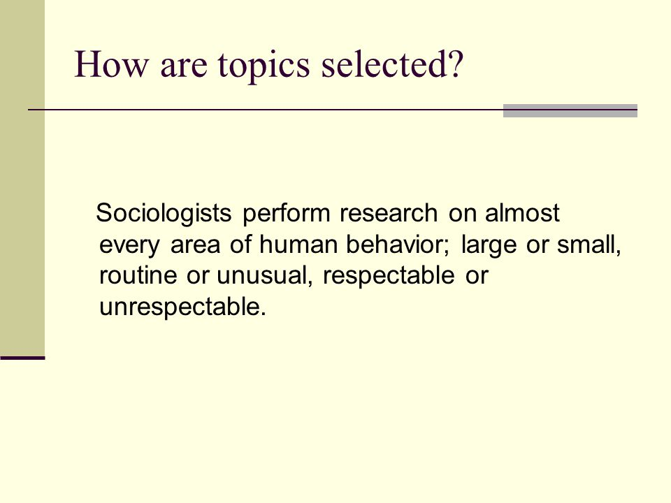 How are topics selected