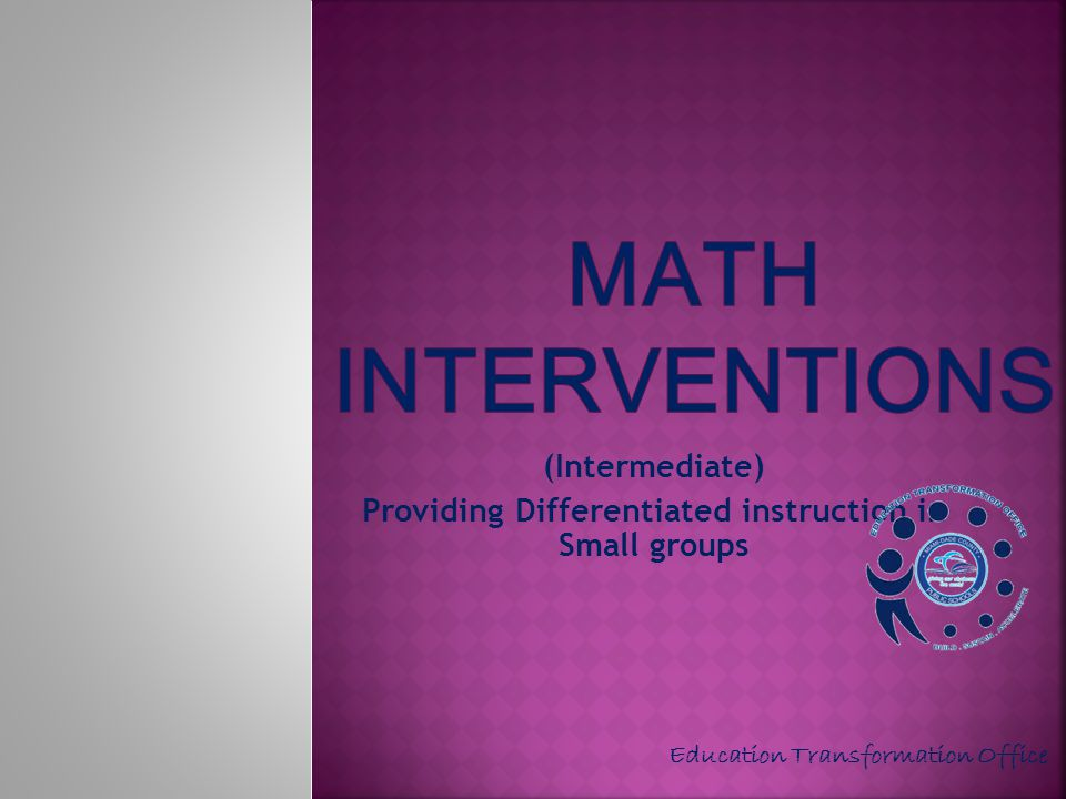 (Intermediate) Providing Differentiated instruction in Small groups