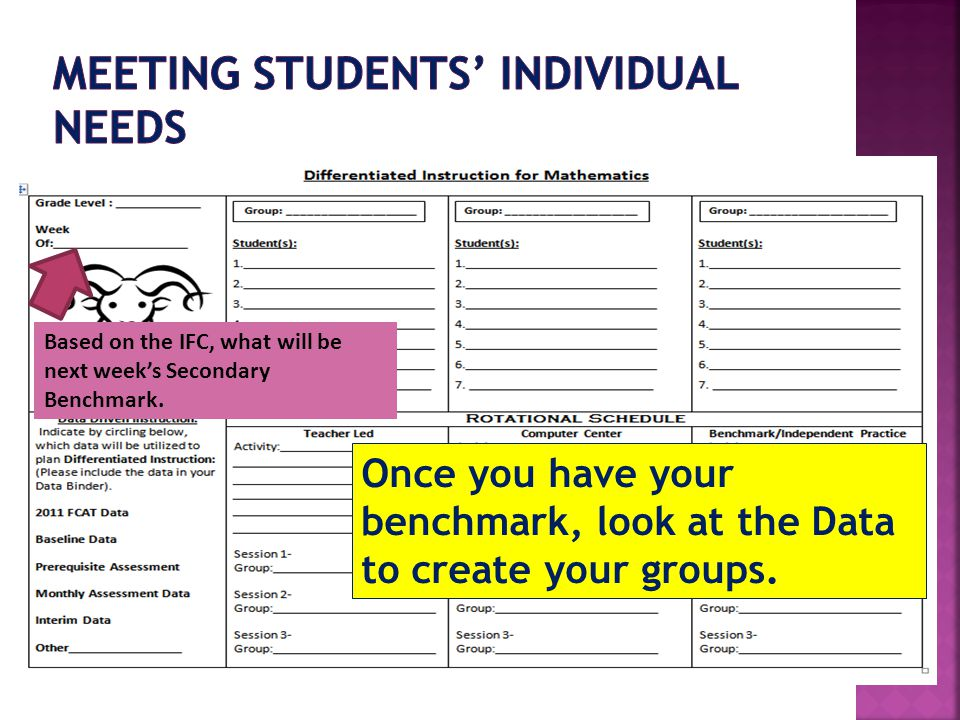Meeting Students' Individual Needs