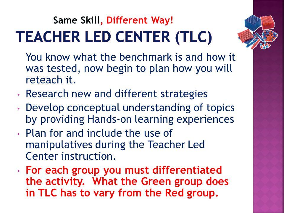 Teacher Led Center (TLC)