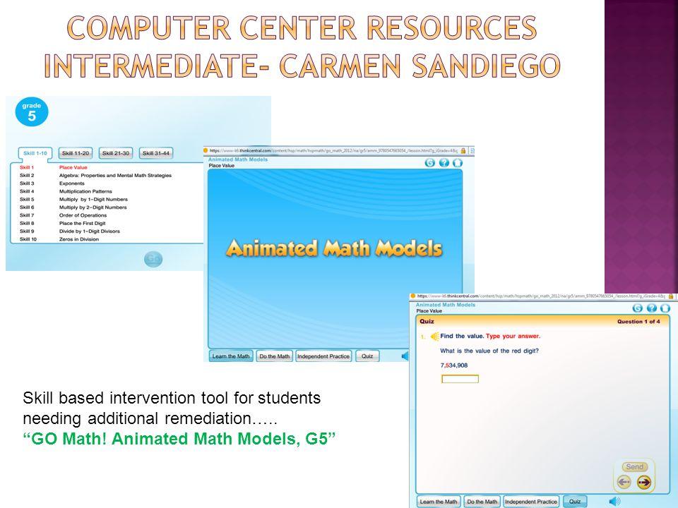 Computer Center Resources Intermediate- Carmen Sandiego