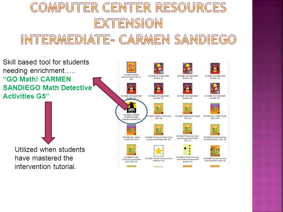 Computer Center Resources Extension Intermediate- Carmen Sandiego