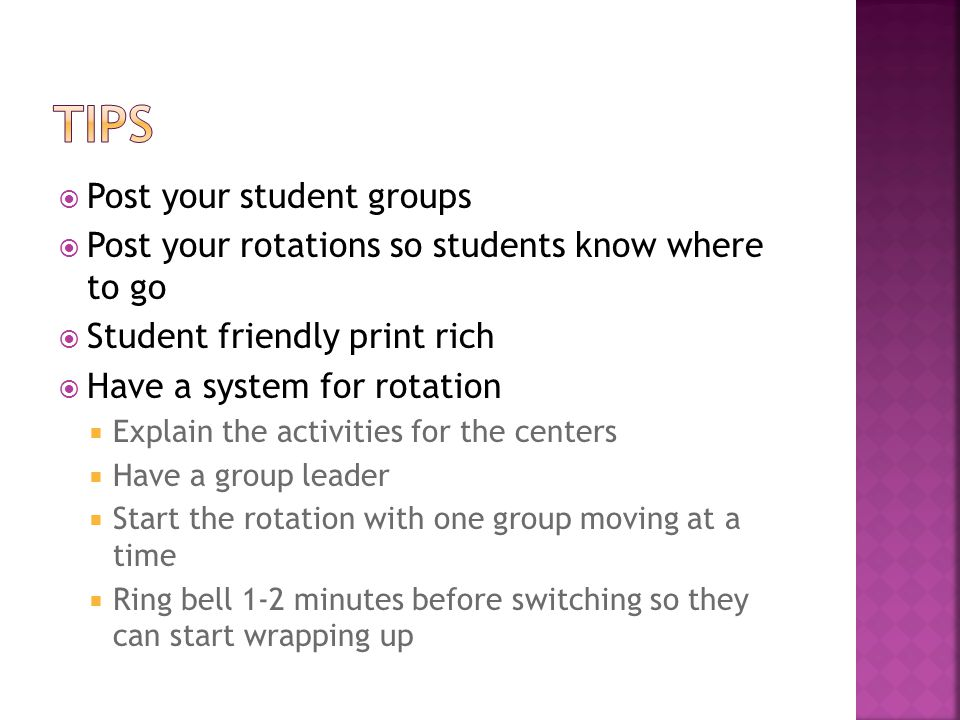 TIPS Post your student groups