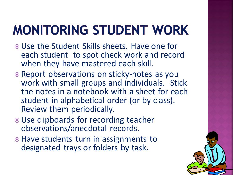 Monitoring Student Work