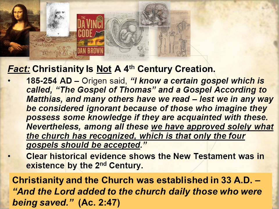 Fact: Christianity Is Not A 4th Century Creation.
