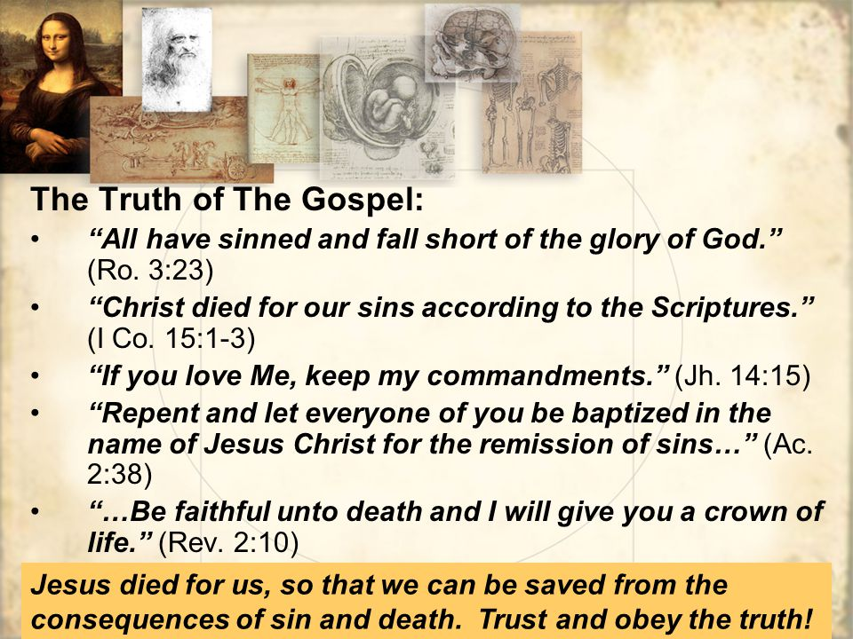 The Truth of The Gospel: