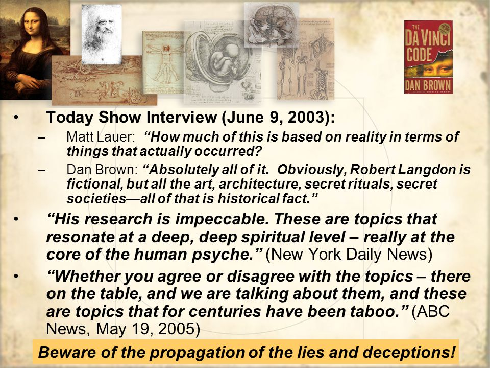 Today Show Interview (June 9, 2003):