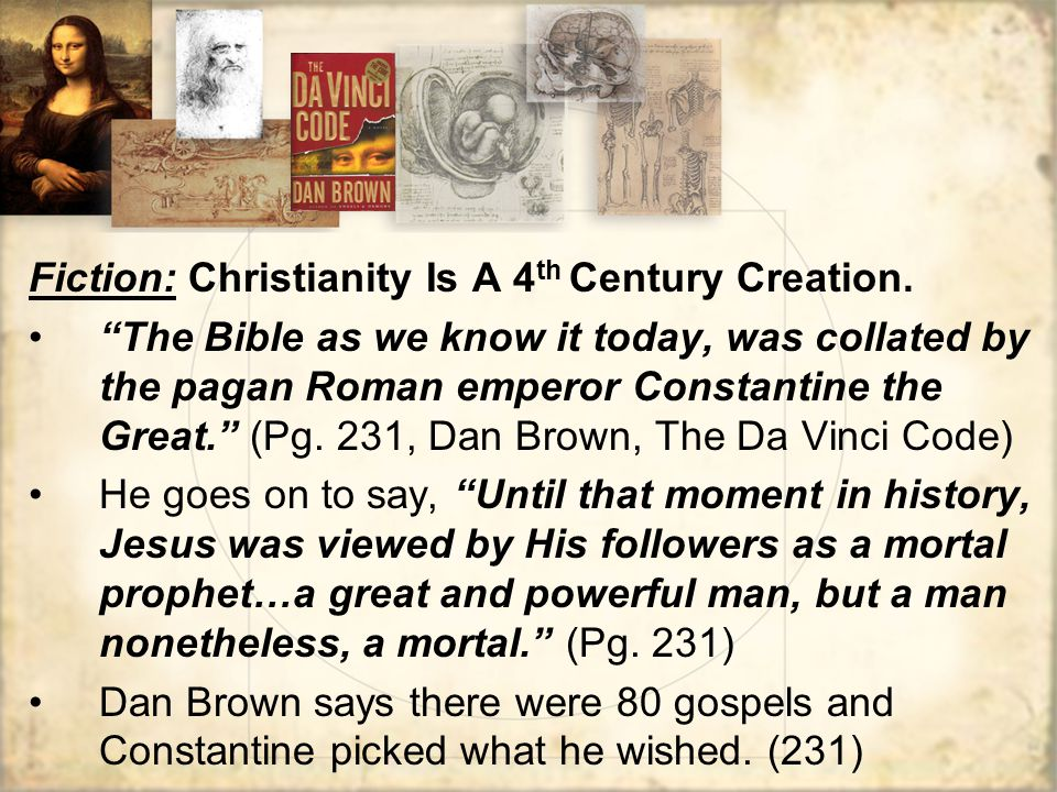 Fiction: Christianity Is A 4th Century Creation.
