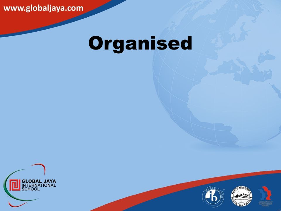 Organised Organized = sylabus-deadline