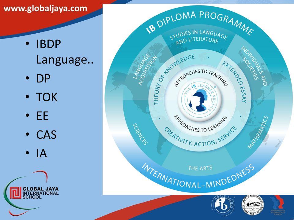 IBDP Language.. DP TOK EE CAS IA