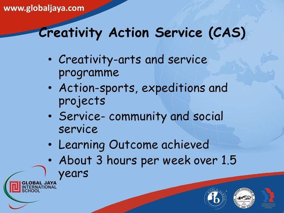 Creativity Action Service (CAS)
