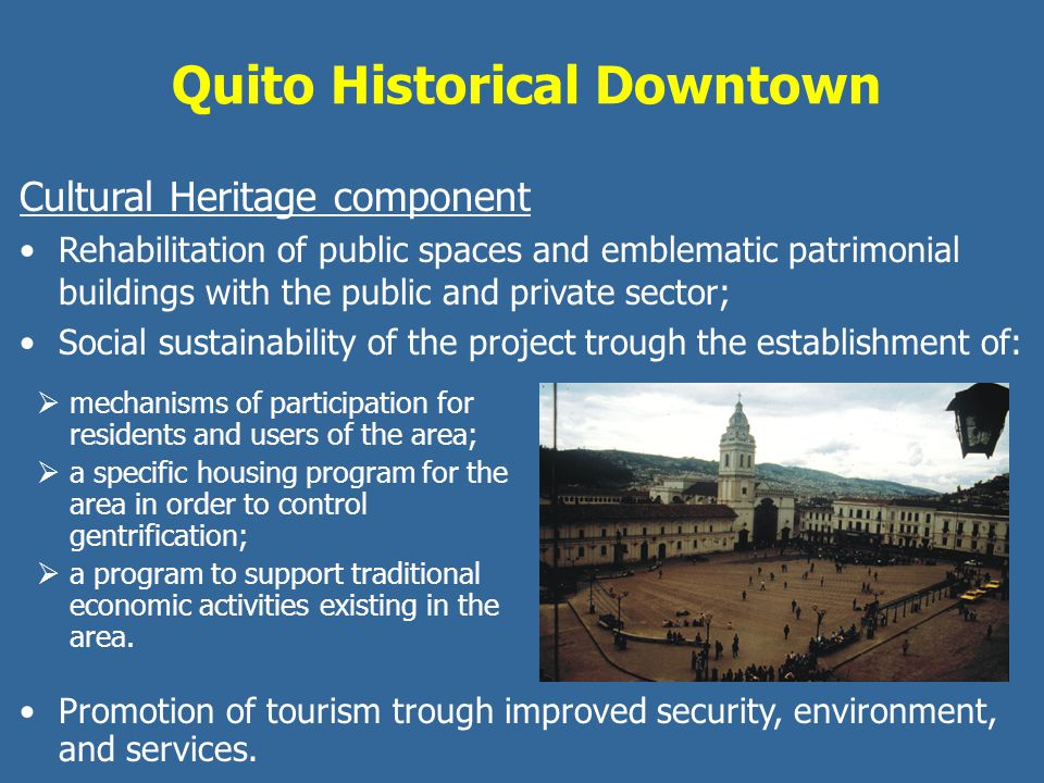 Quito Historical Downtown
