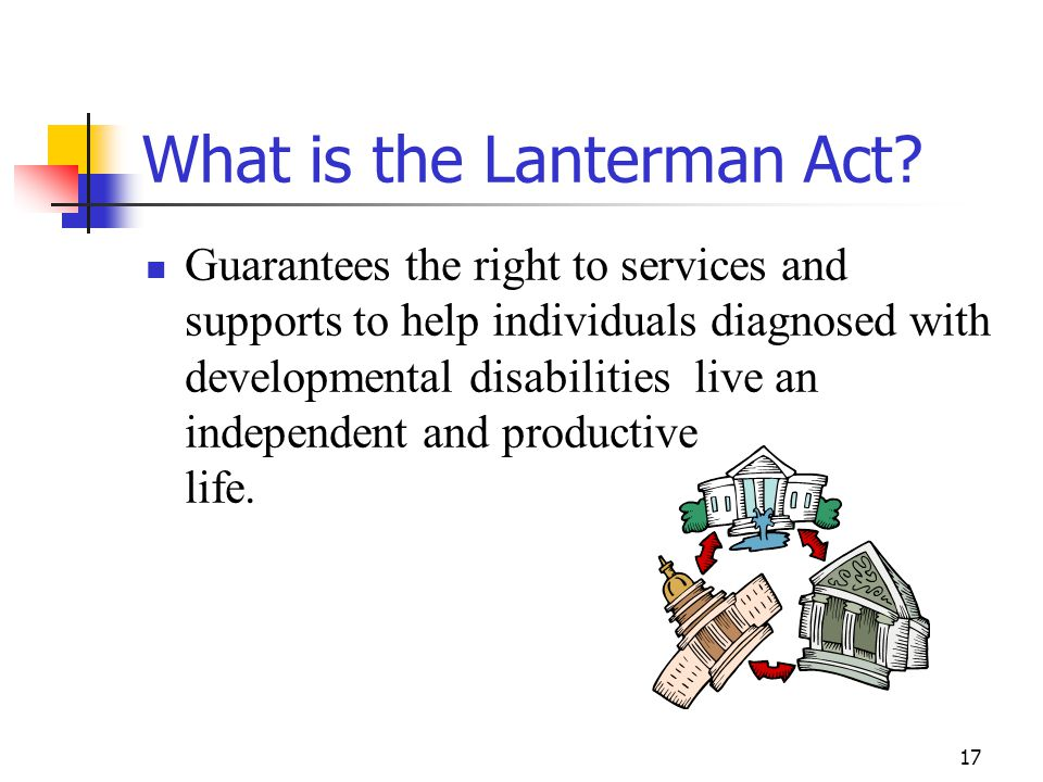 What is the Lanterman Act