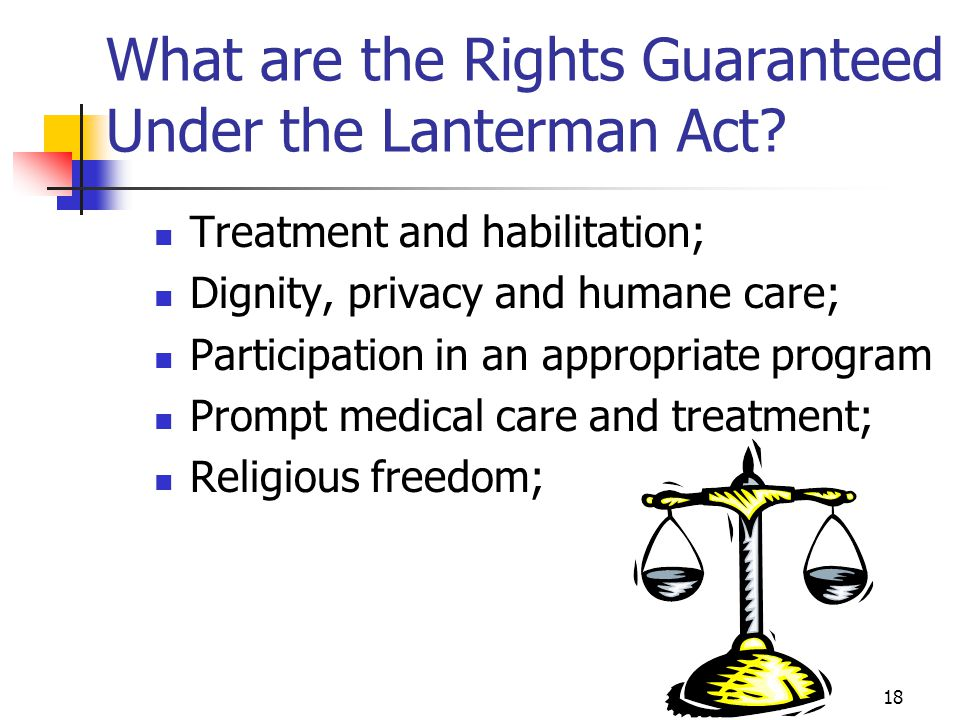 What are the Rights Guaranteed Under the Lanterman Act