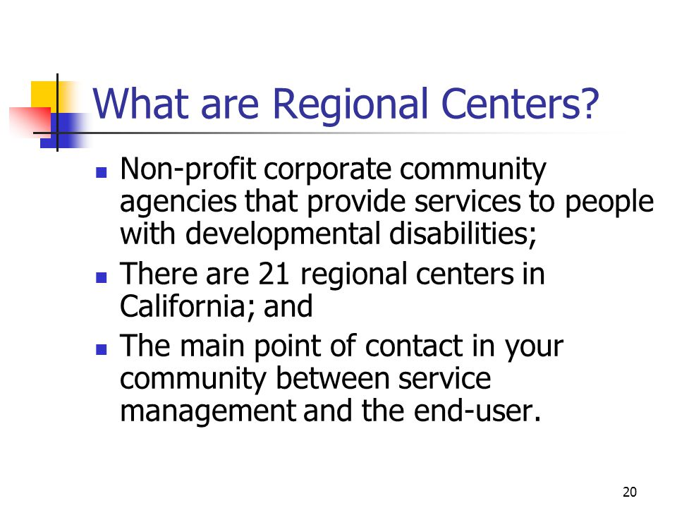 What are Regional Centers