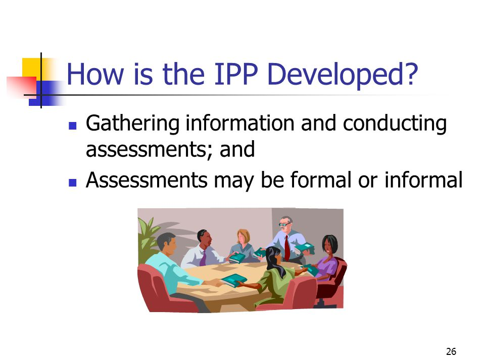 How is the IPP Developed