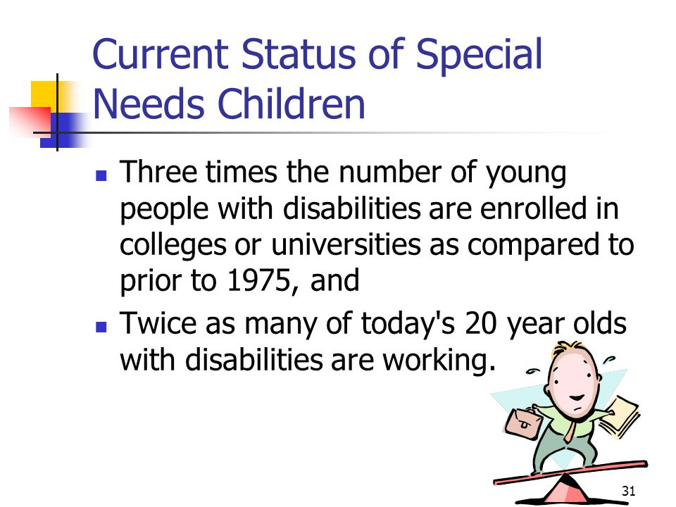 Current Status of Special Needs Children