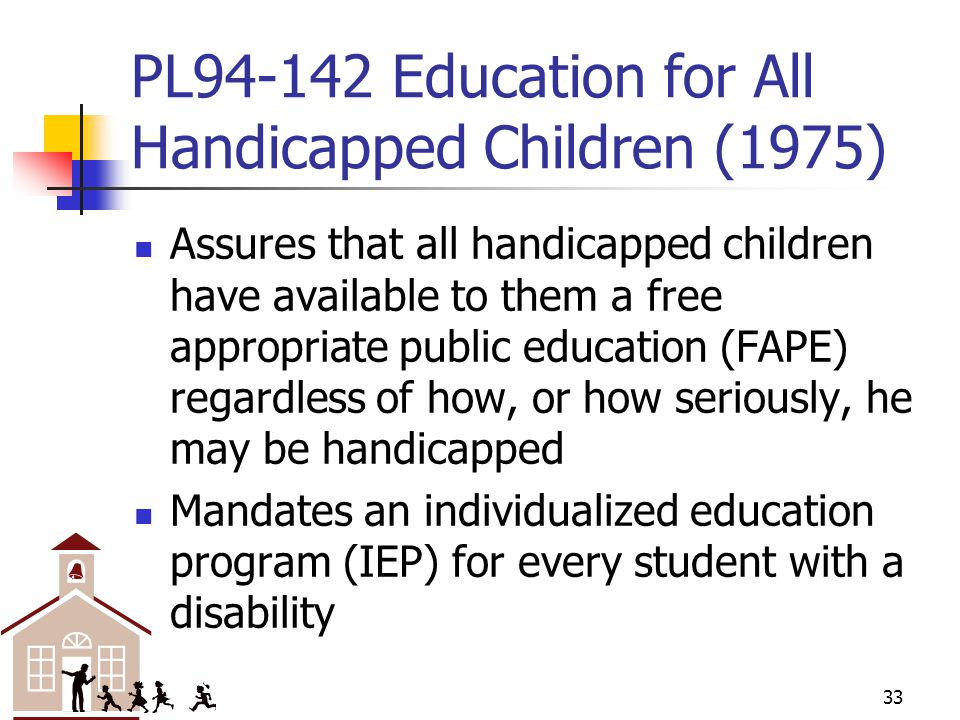 PL Education for All Handicapped Children (1975)
