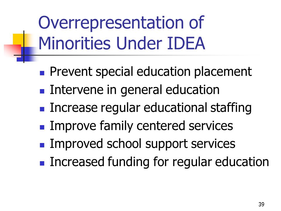 Overrepresentation of Minorities Under IDEA