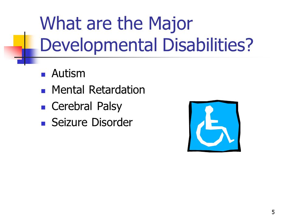 What are the Major Developmental Disabilities
