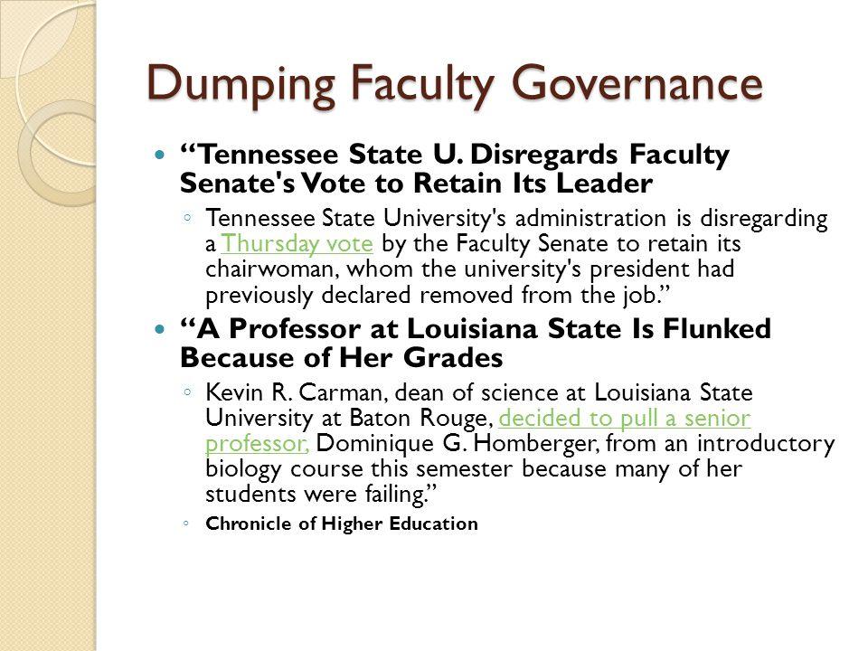 Dumping Faculty Governance