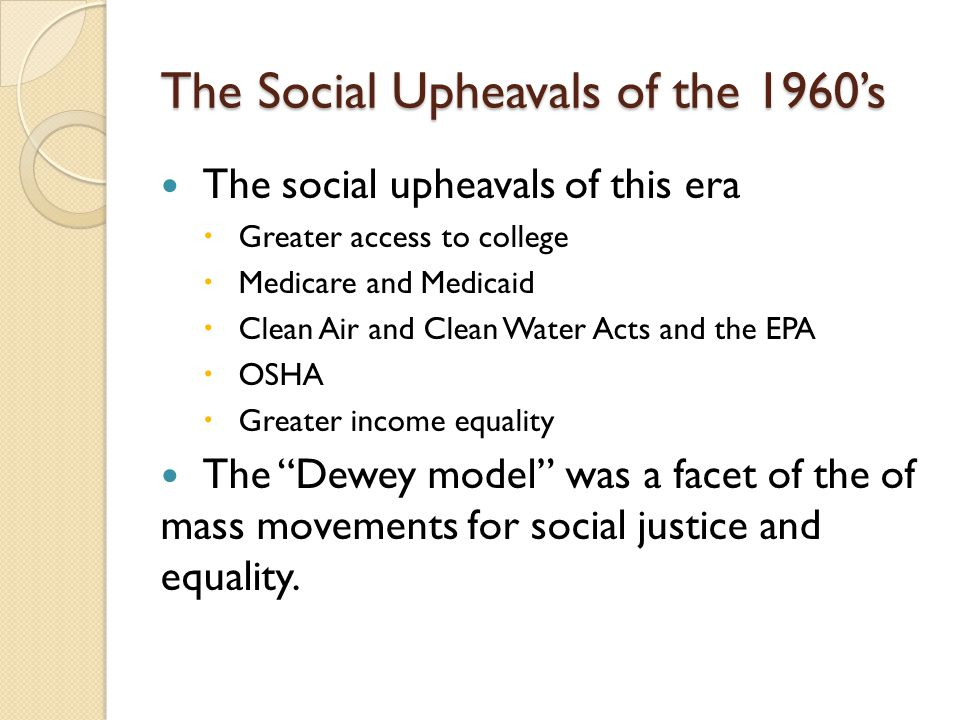 The Social Upheavals of the 1960's