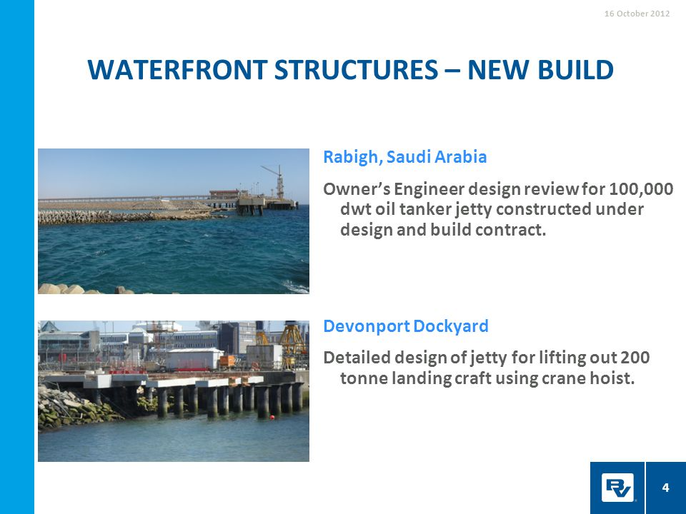 Waterfront structures – new build