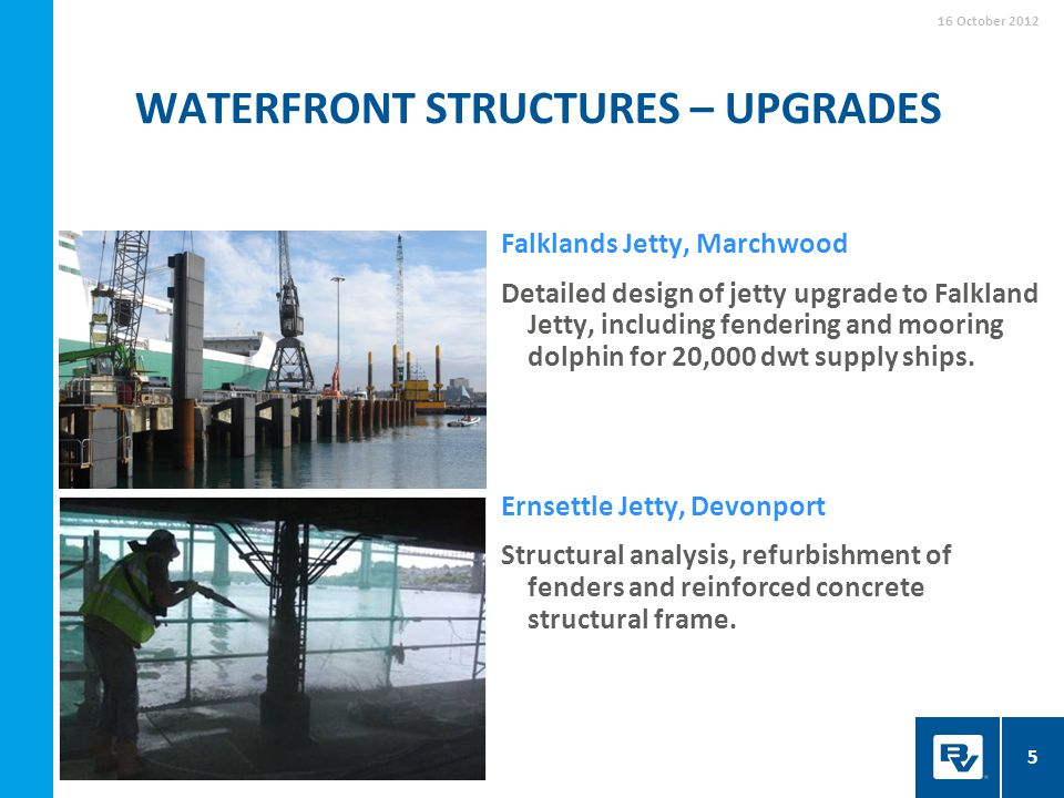 Waterfront structures – upgrades